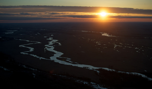 The beautiful, braided Platte River