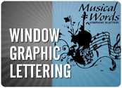 Window Graphic Lettering