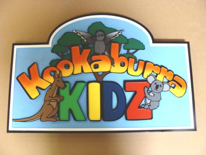 FA15950 - Australian Kookaburra Kids Plaque