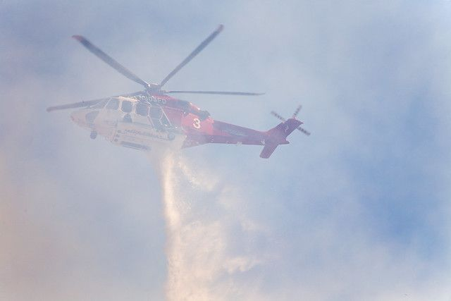 LAFD Helicopter In Action
