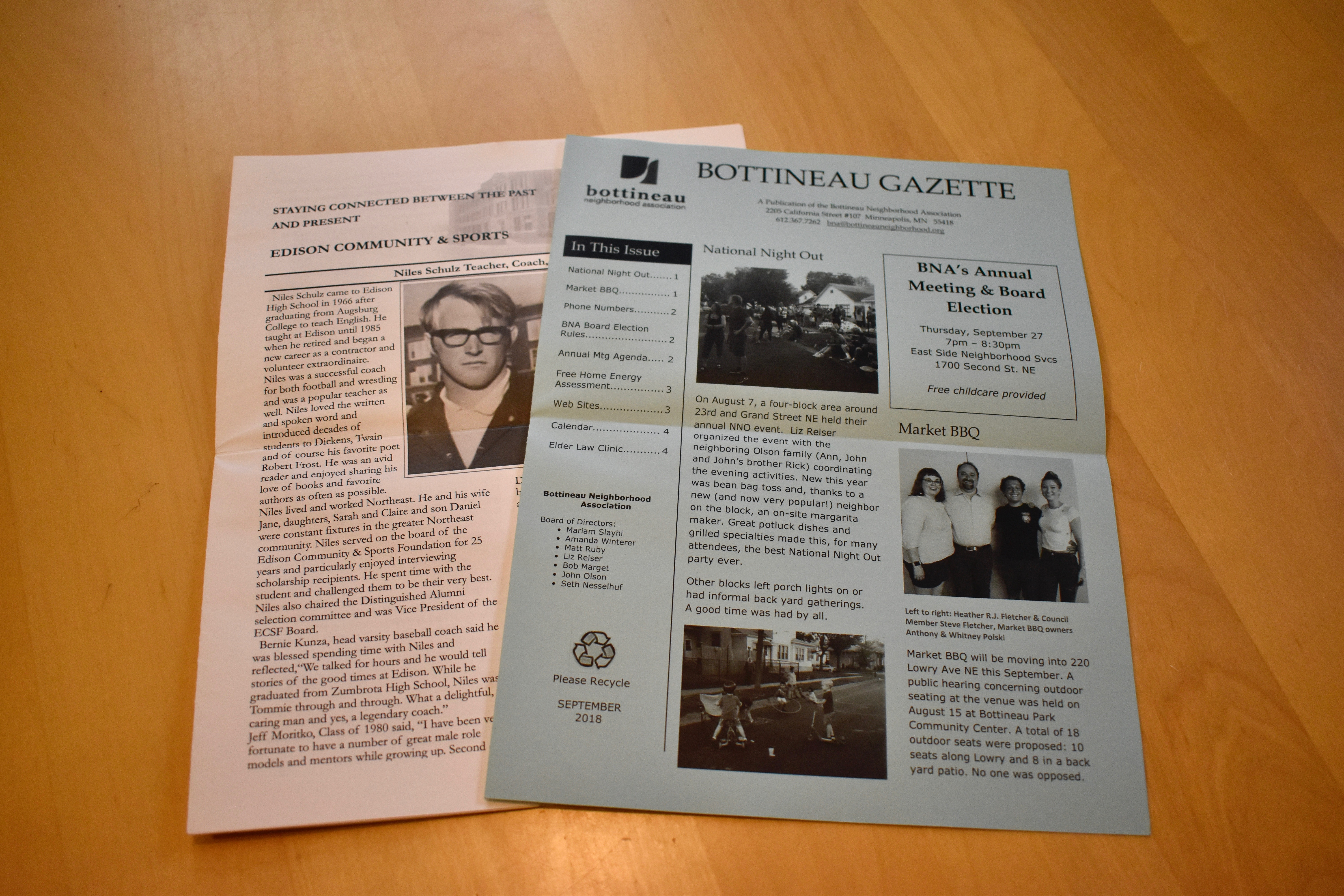 Black and white flyers and newsletters, full color flyers and newsletters