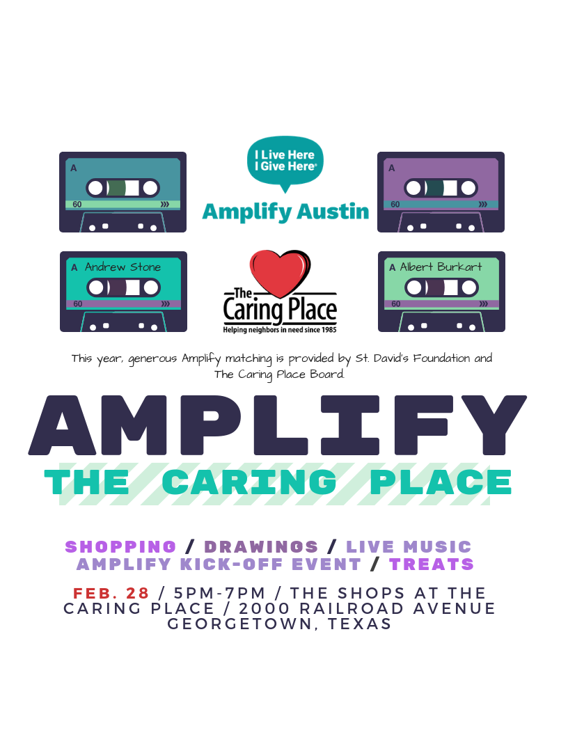 Come to our Amplify The Caring Place Kick-Off Event!
