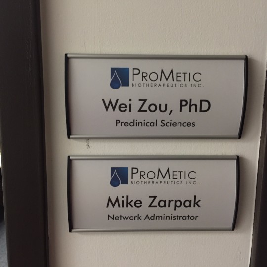 ProMetic  Office Sign