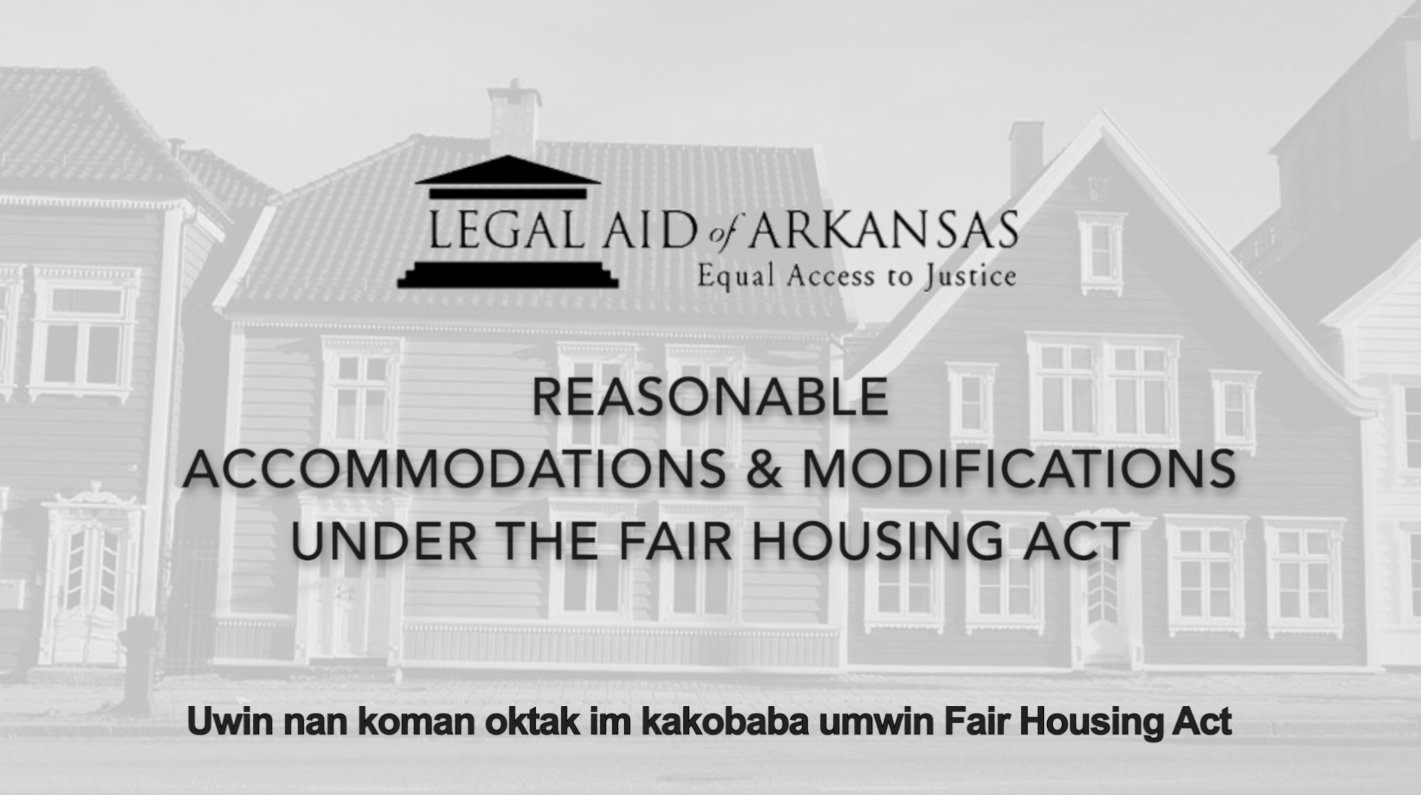 VIDEO - Uwin nan koman oktak im kakobaba umwin Fair Housing Act