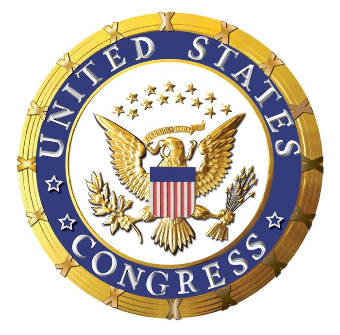 AP-2020 -  Carved Plaque of the Seal of the United States Congress, Artist Painted with Gold Gilding