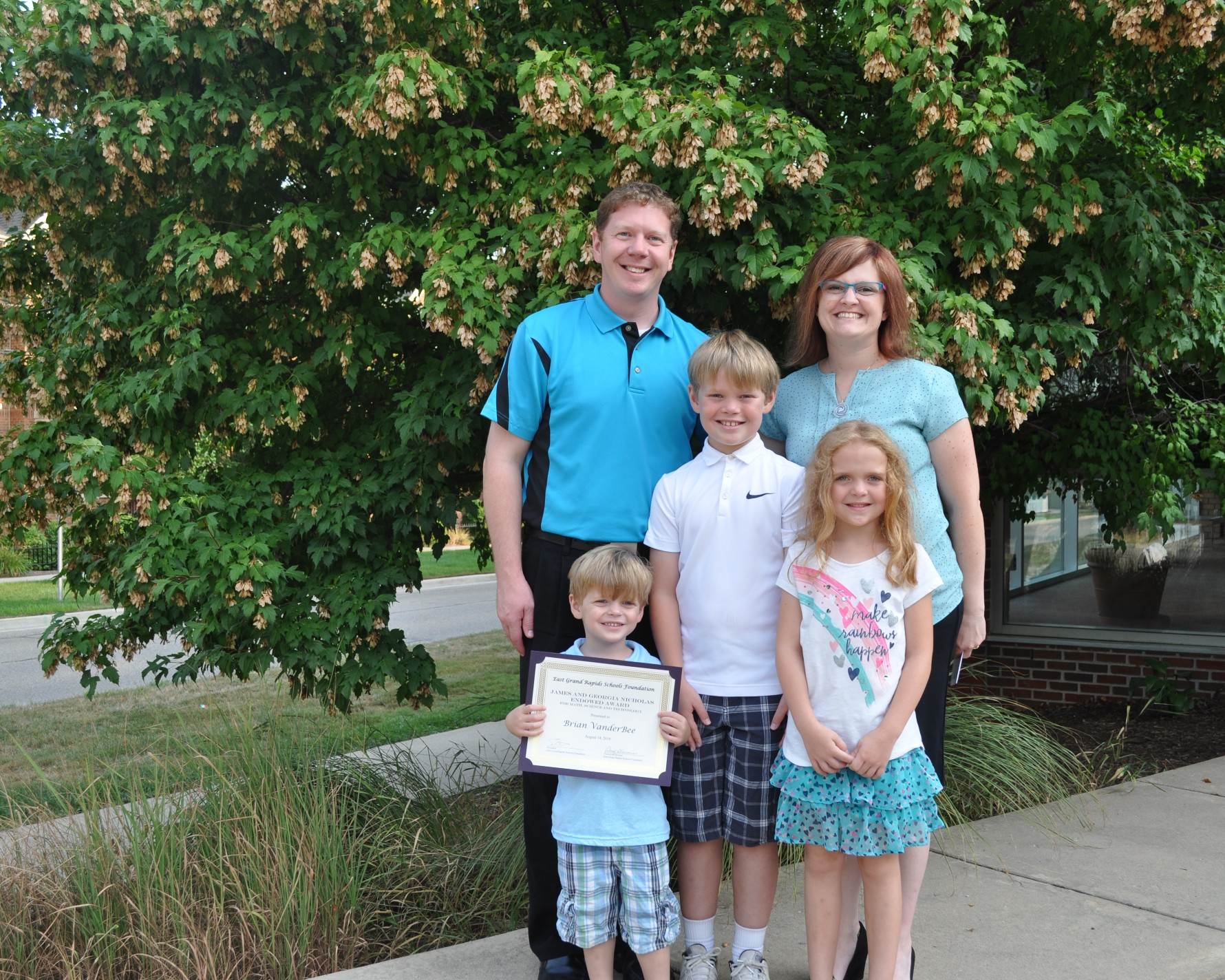 Brian VanderBee and his family
