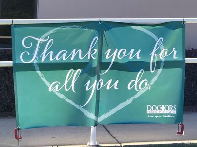 Doctor's Hospital Thank You Banner