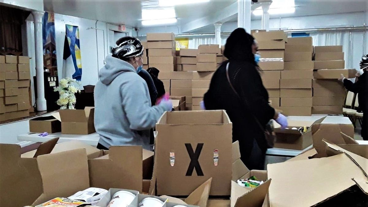 NW Bronx Food Justice Project emergency food pantry delivery sorted