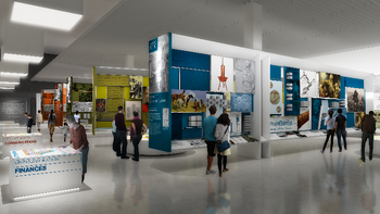 Click to see more artist renderings of the new museum project in the Vision Gallery.