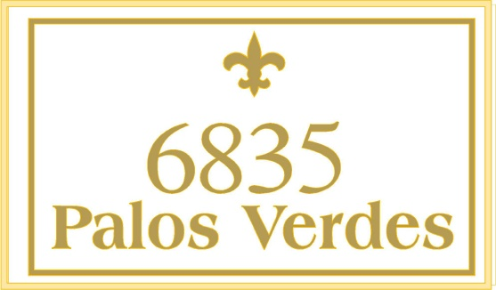 I18370 - Elegant Engraved Residence Address Sign, with Fleur-de-Lis as Artwork