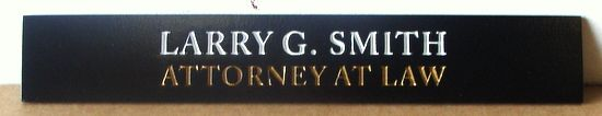 A10333- Engraved Wood Wall Sign for Attorney Office