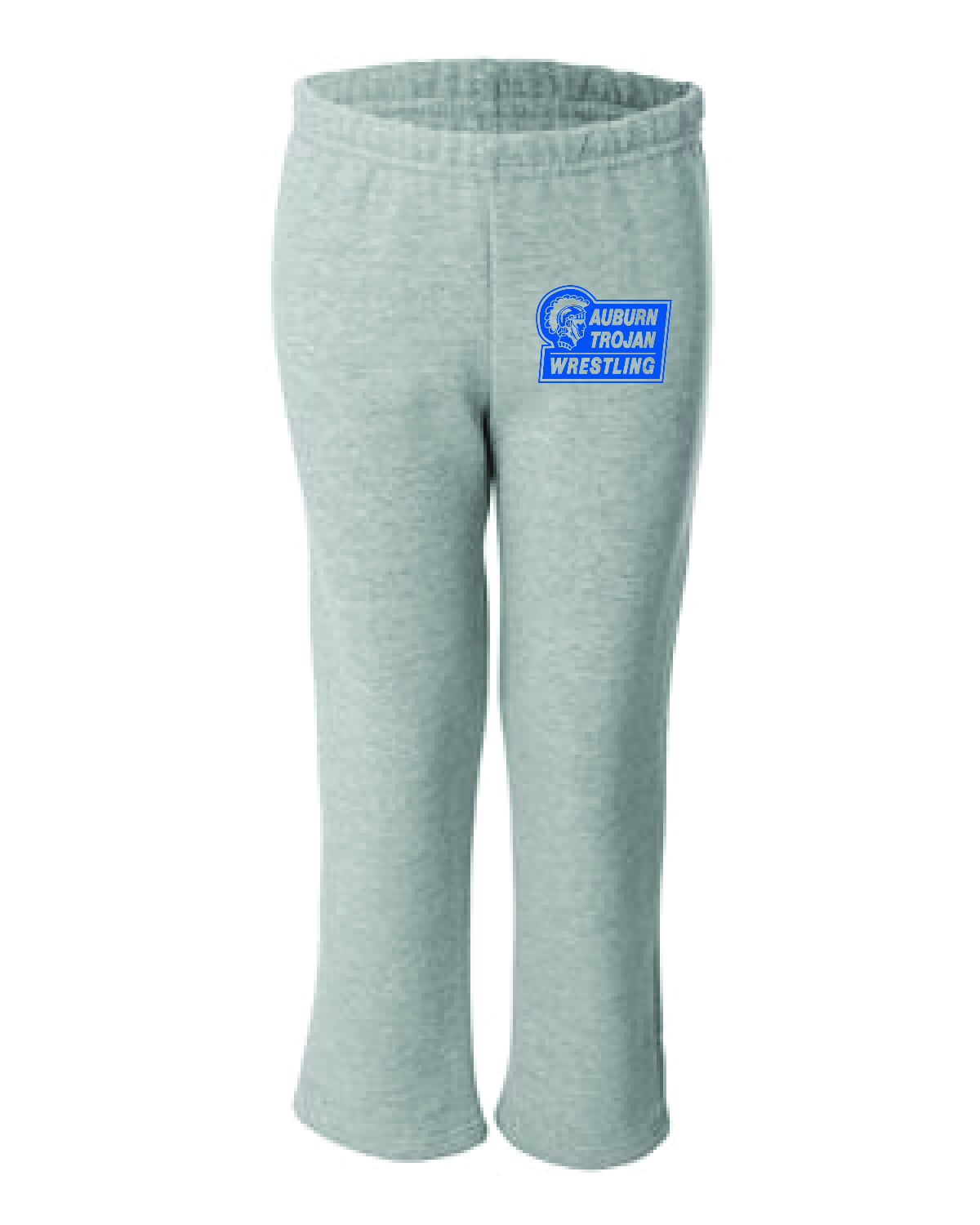 WRESTLING Gildan - Heavy Blend™ Youth Open-Bottom Sweatpants  (YOUTH GRAY)