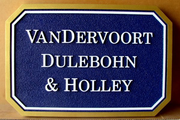 C12081 - Sandblasted HDU Name Sign for Financial Planning Group , with Raised Text and Border
