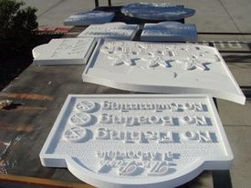 Routed and Sandblasted Signs