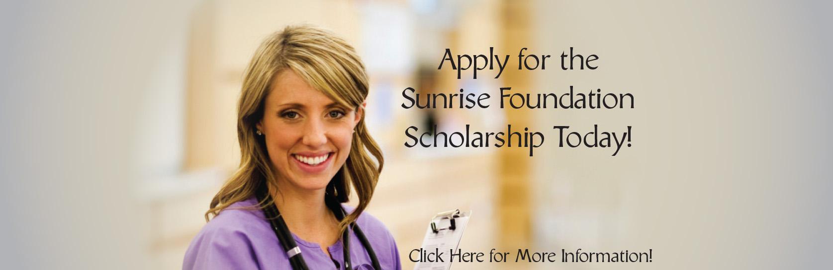 Sunrise Foundation Scholarship