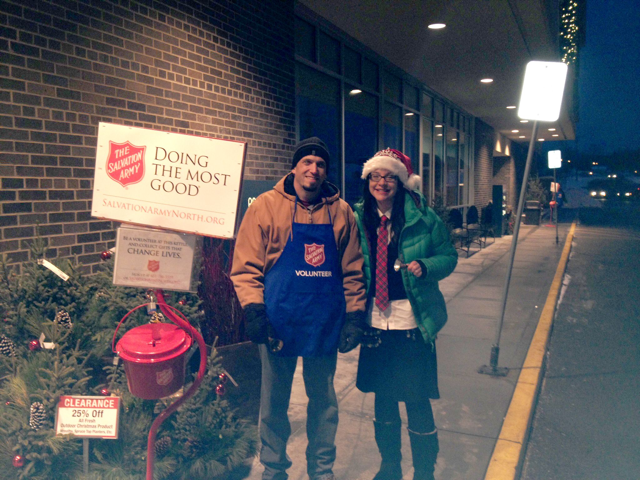 Ringing the Bell with Salvation Army