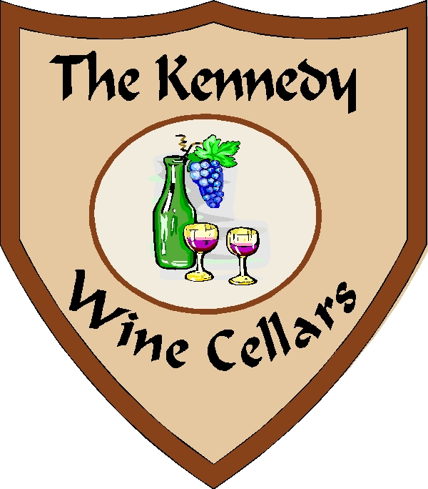 R27150 - Wall Plaque for the Kennedy's Home Wine Cellar
