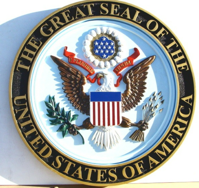 M2120 - Carved Great Seal of the United States (Gallery 30)