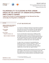 Vulnerability to flooding in peri urban areas in the context of urban development and climate change