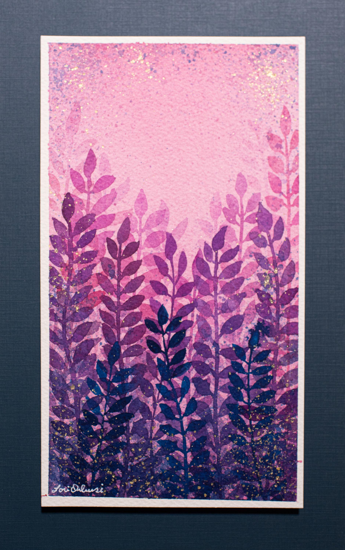 """Lori Orlowski - """"Purple Leaves"""""""