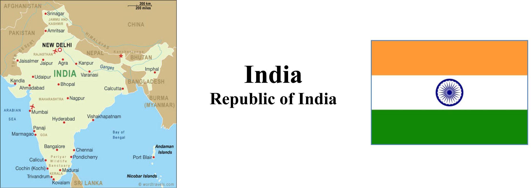 India Map & Flag
