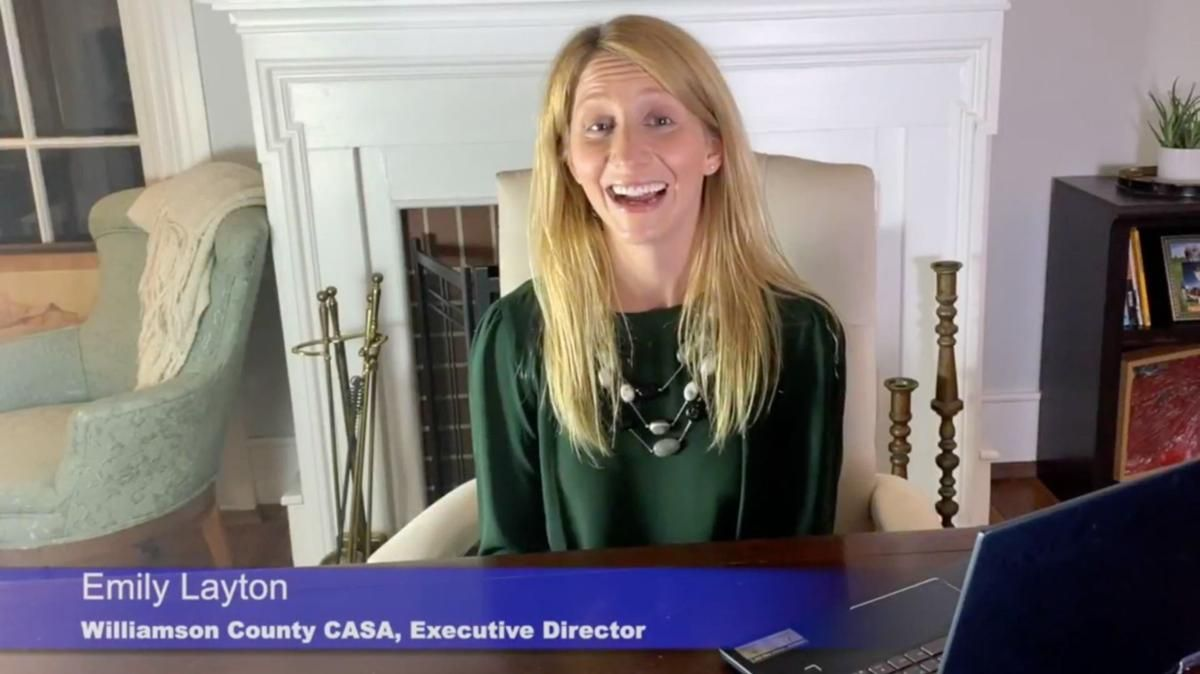 Williamson County CASA hears personal story, presents service award at virtual fundraising event