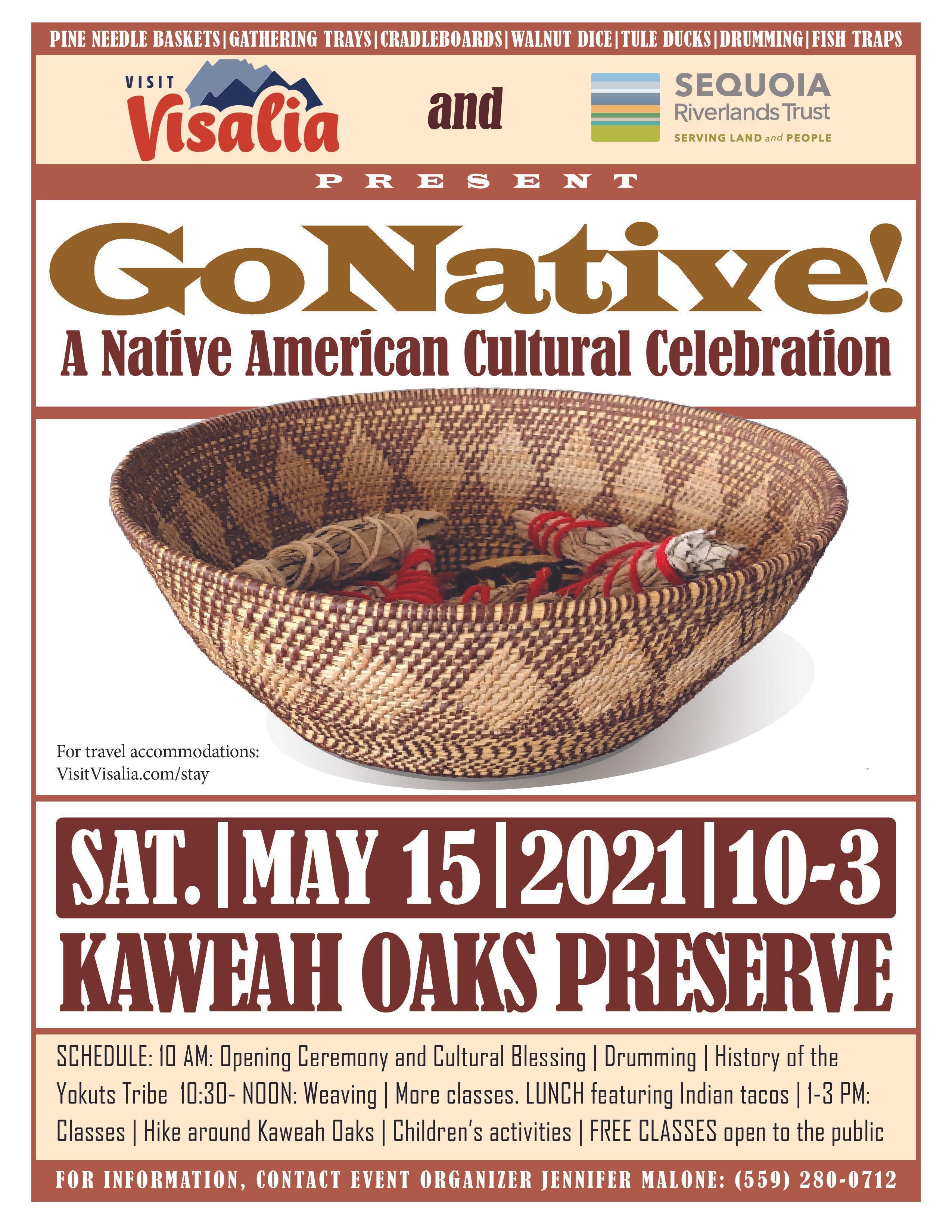 Go Native Returns to Kaweah Oaks May 15