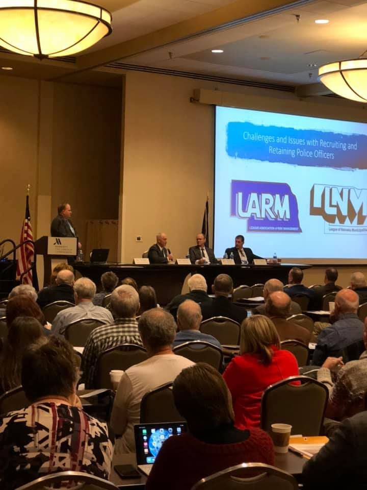 LARM staff present at the League of Nebraska Municipalities Midwinter Conference