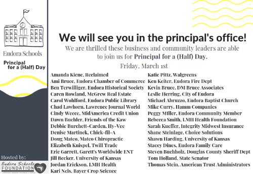 2019 Guest Principals