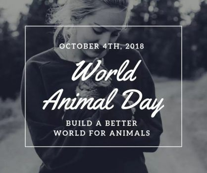 World Animal Day 2018