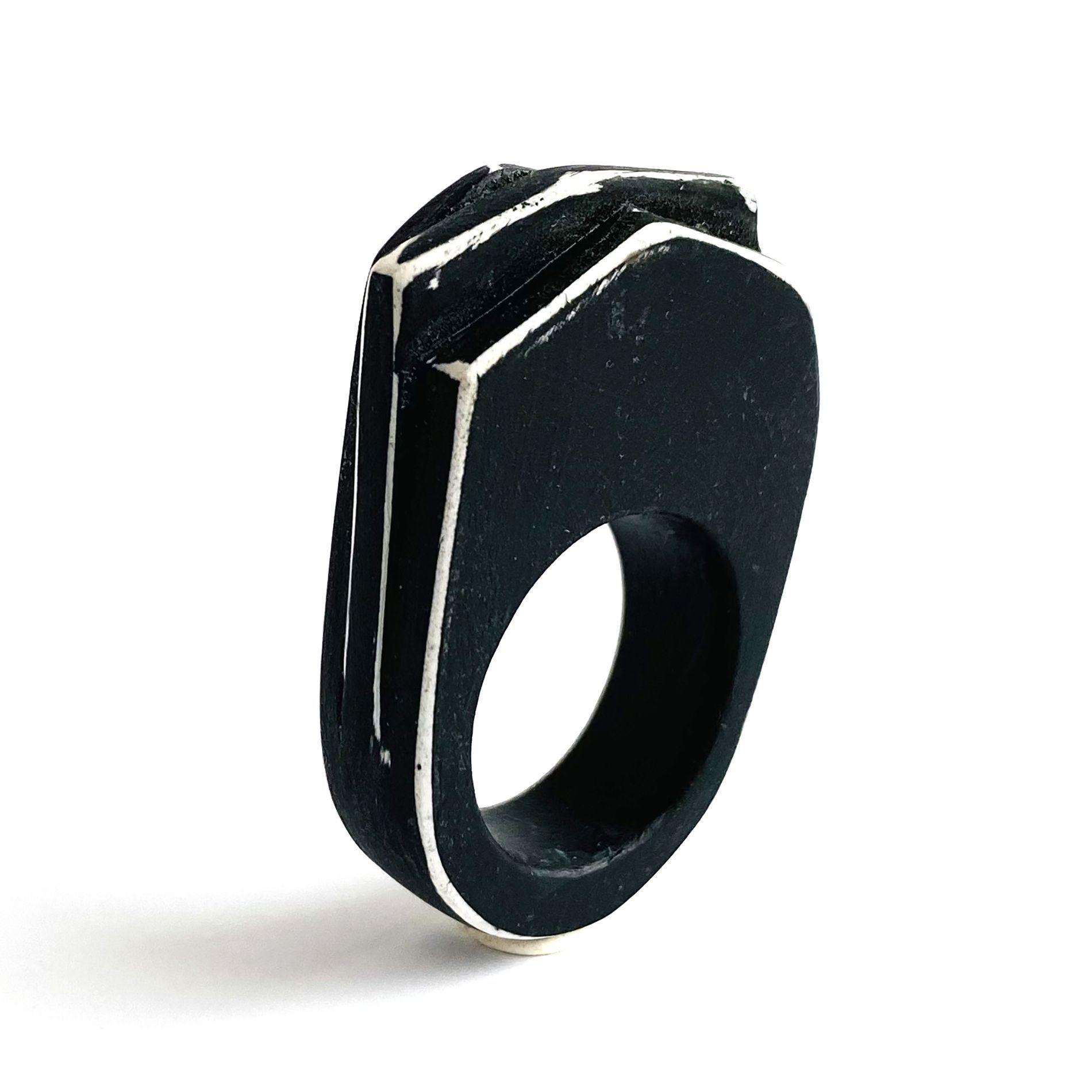 Black and White Layered Ring