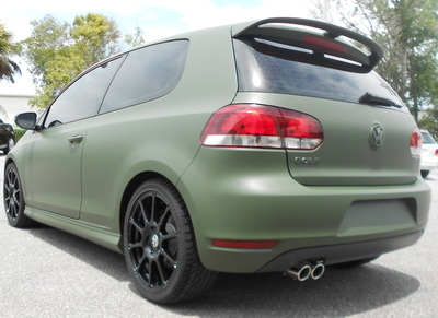 Volkswagon Golf Matte Wrap