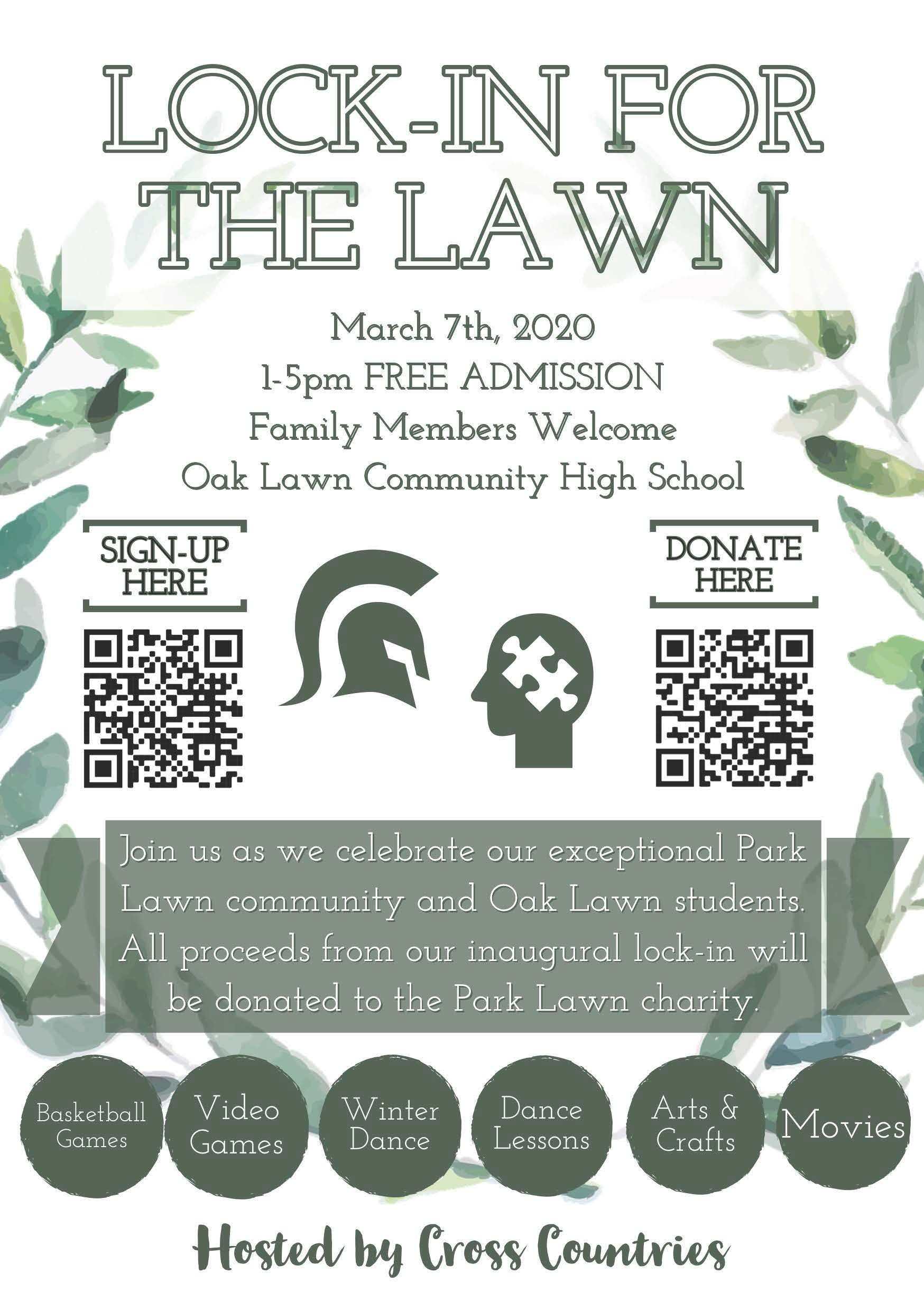 Lock-In For The Lawn