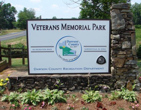 Dawson Co. Park Sign