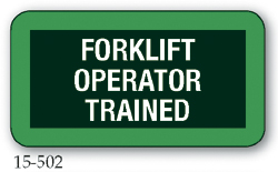Forklift Operator Trained