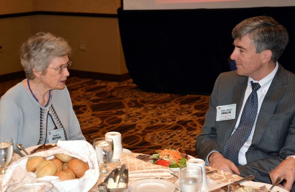 Sally Botsai and John C. Inglis at the 2015 AFIO Spring Luncheon