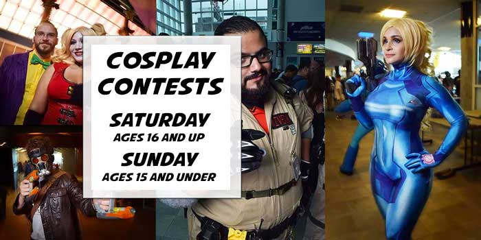 Adult and Kids Cosplay Contests with great prizes!