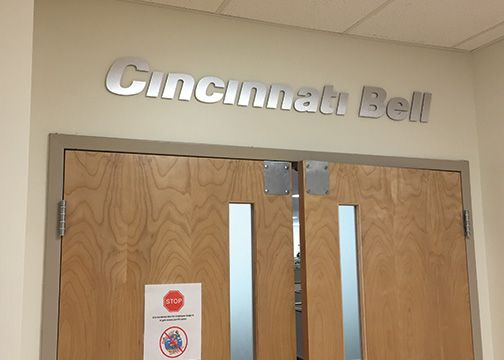Cincinnati Bell Office Lettering
