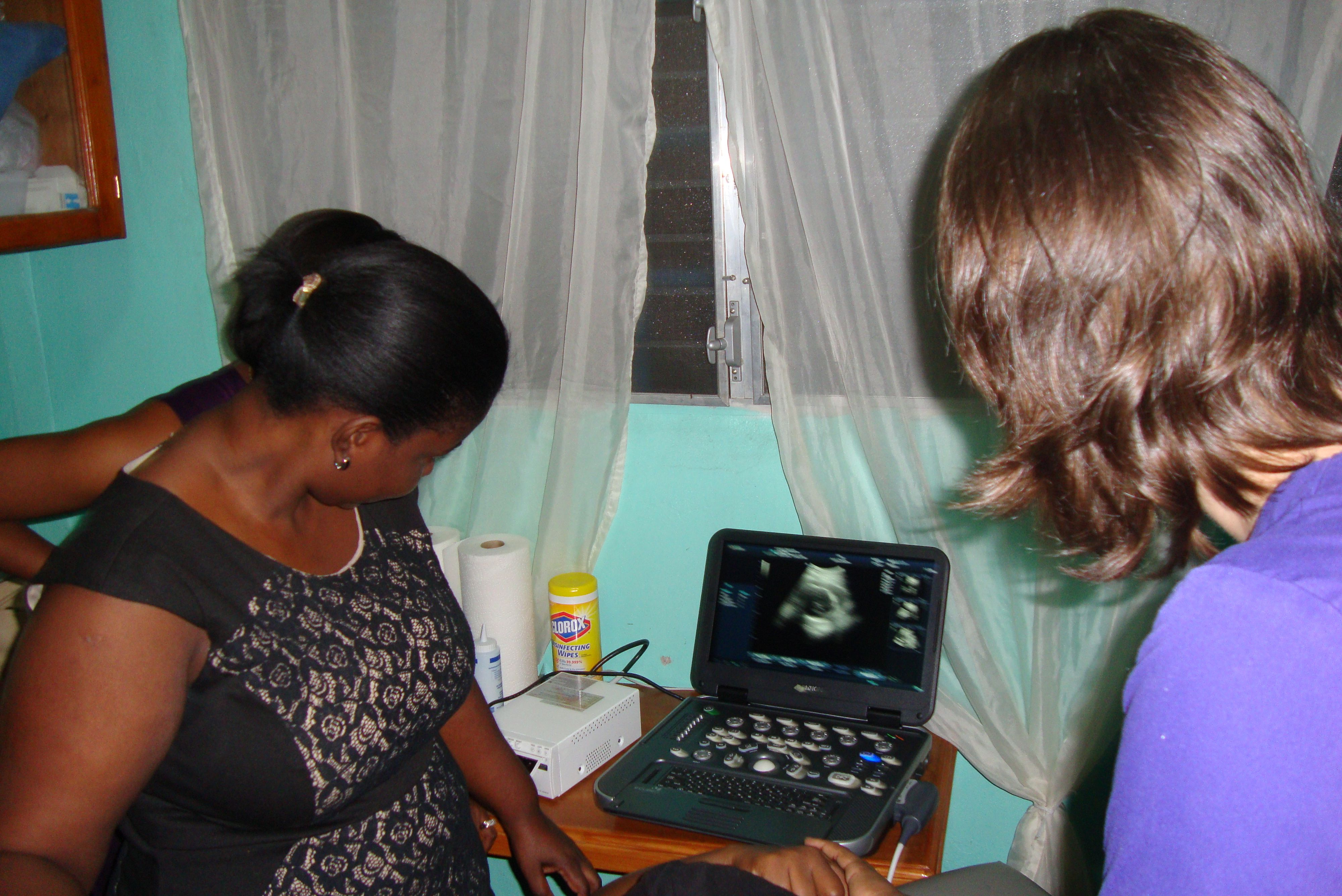 Each doctor received sonography training.
