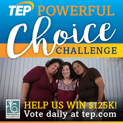 Primavera to Compete in TEP's 'Powerful Choice Challenge' Oct. 16-25