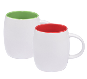 14 OZ Barrel Ceramic Mugs