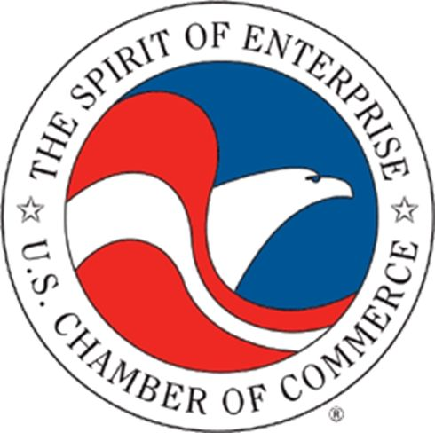 EG501 - Carved Wall Plaque of the Logo of US Chamber of Commerce