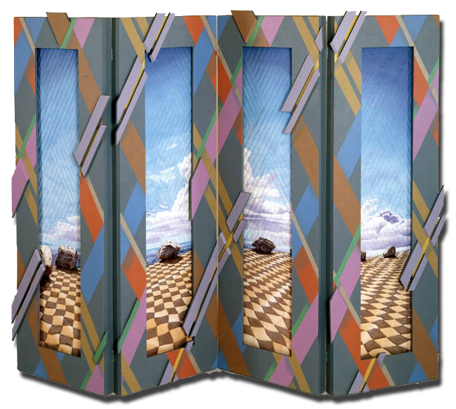 'The Precipice,' Made by Gayle Fraas and Duncan Slade, dated 1986, 72 x 24 x 3 in, IQSCM 1997.007.1076