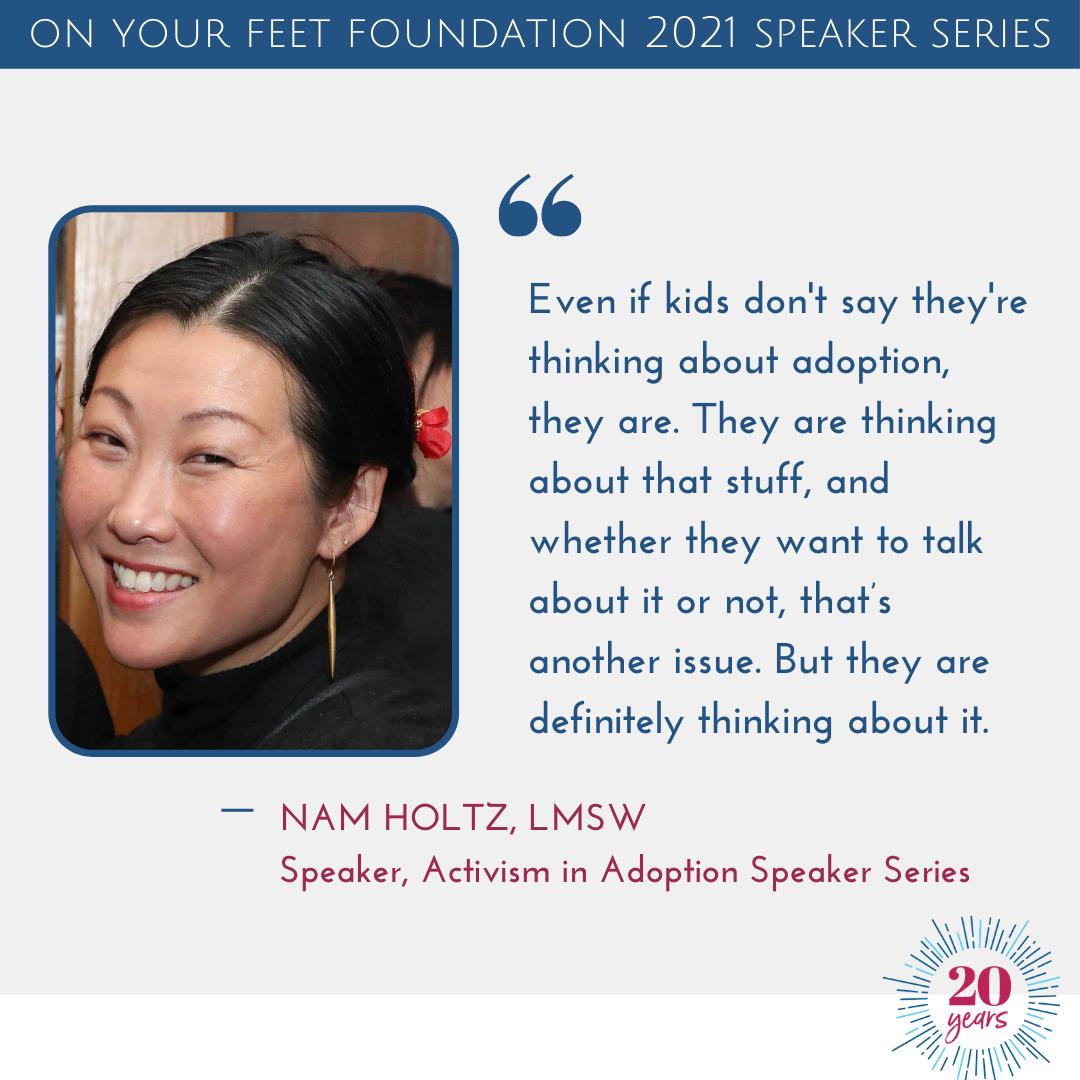 Activism in Adoption speaker Nam Holtz