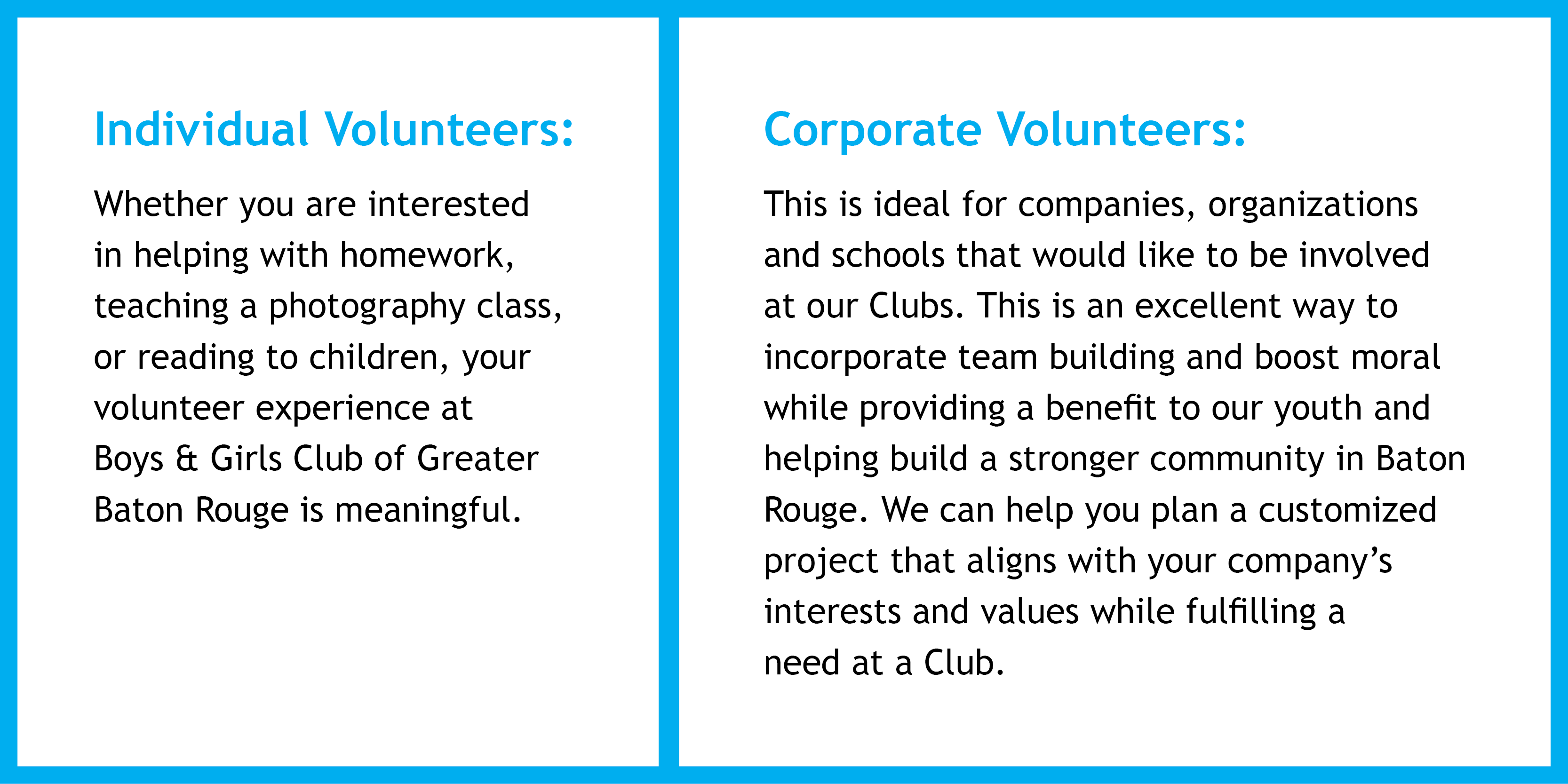 Boys & Girls Clubs of Greater Baton Rouge : How To Help