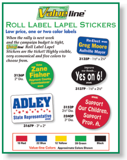 Roll Labels Stickers