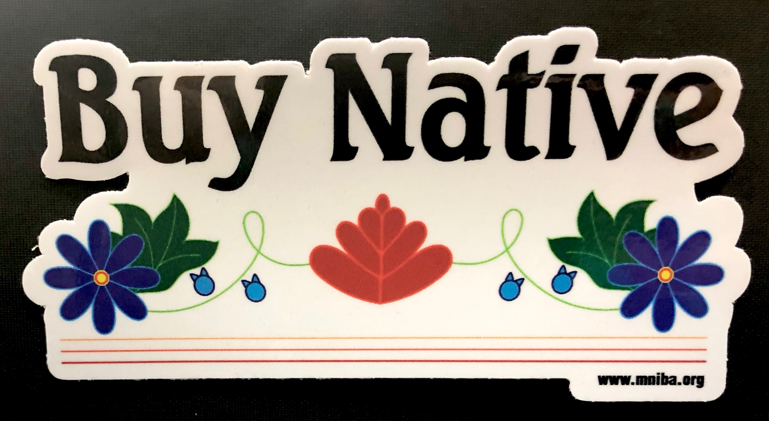 Buy Native Floral Die Cut Sticker