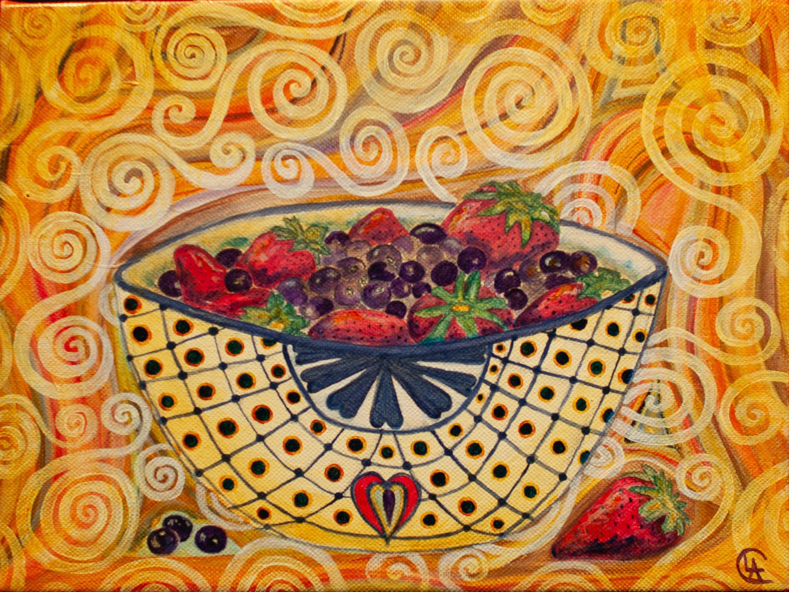 """Berry Bowl"" - Cindi Lagoudakis"