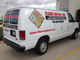Vehicle vinyl lettering and decals Orange County CA