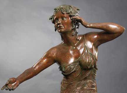 """Medusa, cast bronze, 72""""H x 36""""W x 36""""D"""